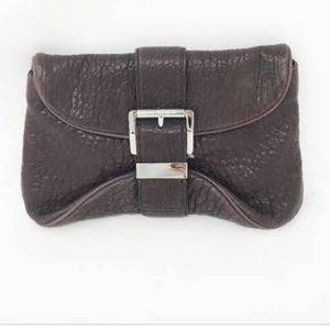 Michael Kors soft pebbled leather clutch